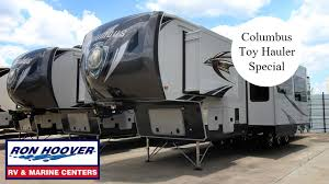 2016 columbus 5th wheel toy hauler made by palomino forest river at ron hoover rv marine you