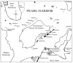 pearl harbor north carolina digital history map of pearl harbor