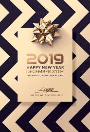 New Year Flyers Template Classy New Year Flyer Templates Psd