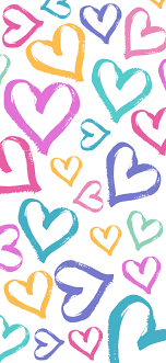 Heart Pattern Wallpaper Background for ...