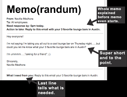 Email Memorandum Format How To Write An Effective Memo
