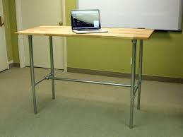 adjule height sitting standing desk bundle simplified building kee klamp railings