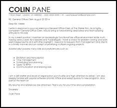 Cover Letter For A Clerk General Office Clerk Cover Letter Sample