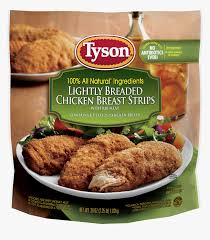 Tyson Naturals Lightly Breaded Chicken Strips Tyson Lightly Breaded Chicken Tenders Nutrition Hd Png