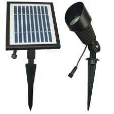 solar goes green solar powered black outdoor spotlight with 12 bright white leds