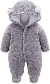 Kids Baby Jumpsuit, kaiCran Ear Plus Velvet Hooded ... - Amazon.com