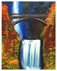 Multnomah Falls acrylic painting on canvas by Audrey Erickson | Wine and  canvas, Acrylic painting canvas, Canvas painting