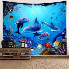 Variety Marine Animal Print Tapestry | Gearbest