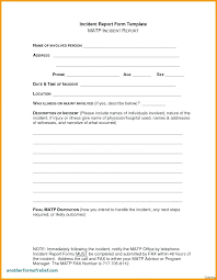 Daily Incident Report Template Form Format Onemonthnovel Info
