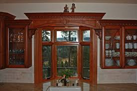 thumb kitchen traditional style western maple cherry color raised panel arched window valance with panels glass