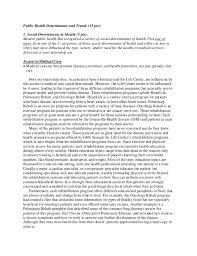 Public Health Essays Health Determinants Essays