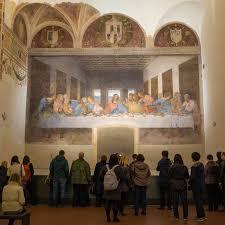 last supper in the refectory of the convent of santa maria della grazie in milan