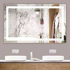 Look through master bathroom makeup vanity pictures. Buy Tetote 48 X 30 Bathroom Led Mirror Home Decor Vanity Makeup Mirror Dimmable Anti Fog Wall Mounted Birthday Gift Wedding Gift Online In Italy B08l3k5gm1