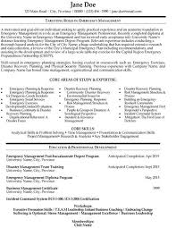 Emergency Response Officer Sample Resume