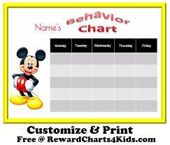 behavior charts mickey mouse behavior charts