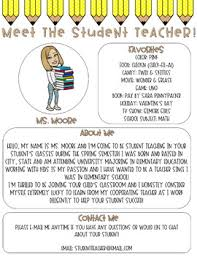 Meet The Student Teacher Letter Pencil Me In