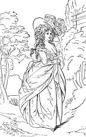 rococo 18th century lady painting coloring page coloring printable historical