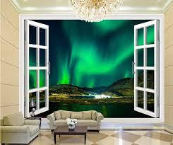 Woondecoratie 3d Stereoscopische Venster Noorderlicht Night Sky