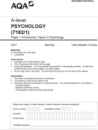 a level psychology pdf do not write outside the box around each page or on blank pages do all