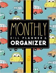 Monthly Bill Planner Organizer Bill Pay Checklist