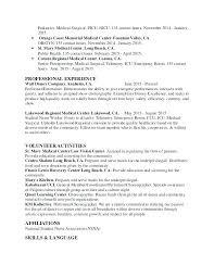 Experienced Nurse Resume Sample Examples Experience Letsdeliver Co