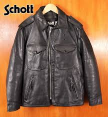 made in usa schott shot policeman jackets leather jackets quilting liner black leather steerhide 40 mens m equivalent