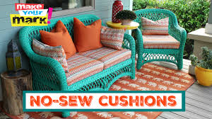how to no sew pillows and cushions