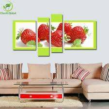 4 piece modern paintings canvas wall art kitchen fruit painting landscape oil painting home decaration print
