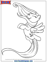 Small Picture My Little Pony Happy Fluttershy Coloring Page Free Printable