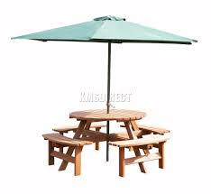 westwood 8 seater wooden pub bench round picnic table furniture garden patio sentinel thumbnail 2