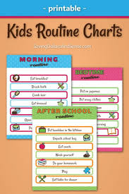 Free Printable School Charts Free Kids Routine Chart Printables 24 7 Moms