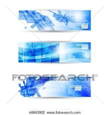 Flyer Header Set Of Abstract Modern Header Banner For Business Flyer Or
