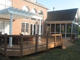 screen porch lighting ideas. timbertech composite deck with pergola and screen porch lighting ideas