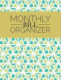 monthly bill organizer notebook monthly bill organizer weekly expense tracker bill organizer