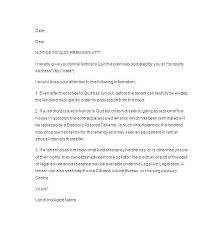 Rental Lease Letters Landlord Termination Of Lease Letter Rental Lease Termination