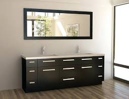 modern single bathroom vanity. 48 Inch Vanity With Sink A Contemporary Inches Bathroom In Black Double Square Sinks And Bronze Faucets Top Modern Single