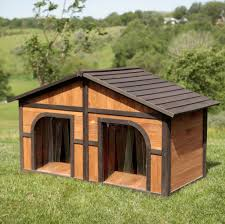 duplex dog house for two extra large dogs big insulated insulated wood dog house plans