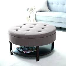 round leather tufted ottoman. Round Navy Ottoman Large Size Of Coffee Table Pouf Rectangular Storage Leather Tufted .