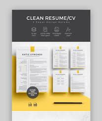 25 Best Contemporary New Styles Resume Cv Templates For 2019