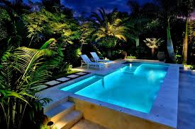 tropical outdoor lighting. miami landscape lighting ideas pool tropical with light outdoor lounge chair sets9 chaise lounges n