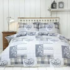 alpine patchwork duvet cover set 100 brushed cotton natural cream and gold king size duvet covers