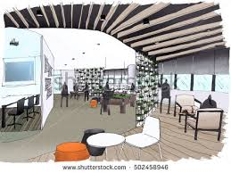 office pantry design. Interior Outline Sketch Drawing Perspective Of A Space Office,Pantry Office Pantry Design