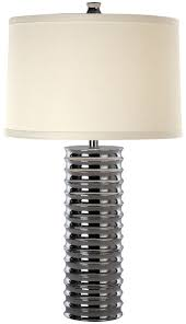 trend lighting tt4060 wave table lamp shown in polished chrome finish