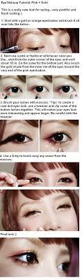 english translated ulzzang pony pink gold eye korean makeup tutorial asianskincare rocks