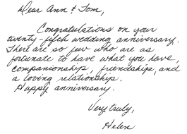 Samples The Handwritten Card