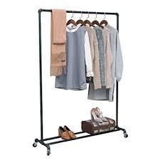Commercial Coat Racks On Wheels Beauteous Amazon MBQQ Industrial Pipe Clothing Racks On WheelsHeavy Duty