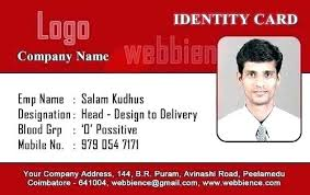 Blank Id Card Template Simple Identity Card Template Free Download Crugnalebakeryco