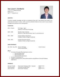 College Student Resume Sample For No Create Photo Gallery For