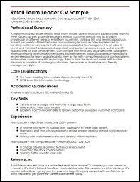 Sample Resume For Team Lead Position Resume Templates Leadership Position Leadership Position Resume