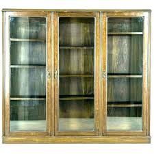 glass door bookcase antique library bookcases with doors billy mahogany bo